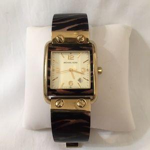 Michael Kors Accessories - Michael Kors Tiger Acetate Bracelet Ladies Watch